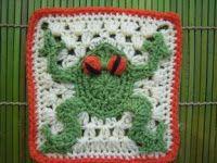 Crochet Frog Square