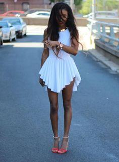 White Sexy Short Summer Dress – Lyfie