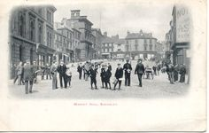Market Hill circa 1905. Barnsley's market received its royal charter in 1249. Barnsley Council ruined it in 1969 by developing the old market area and building a ghastly concrete market hall to replace all the old open markets in the town centre.