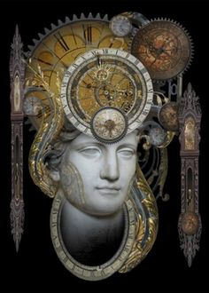 Personification of Time  -  Art Print by Brian Giberson
