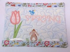 Mug Rug, Spring - 5x7 | Floral - Flowers | Machine Embroidery Designs | SWAKembroidery.com Oma's Place