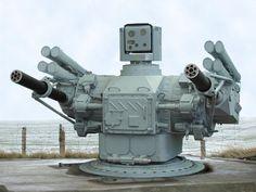 ソスナ-R(Сосна-Р)。ロシアに拠点を置くKB Tochmashによって開発された艦上に設置できる対空システムの一つ。レーザー誘導システムを使用して3500m先の飛行中のターゲットを自動的に攻撃できる。