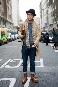 """worker reinvented in relaxed, some geek, maybe romantix - """"Men's style with Grenson boot. www.haloeshoes.com"""""""