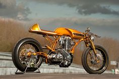 A crazy custom by Lamb Engineering in the UK. It took the top trophy at Custom Chrome's 2011 European Bike Show.