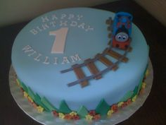 Thomas The Tank Engine Birthday Cake  www.butterscotchpatisserie.co.uk