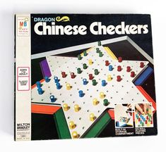 Vintage 1973 Chinese Checkers Board Game by Milton Bradley Complete 4301 Games Toys Milton Bradley, 1970s Toys, Chinese, Yellow Brick Road, Nightmare On Elm Street, Family Games, Board Games, Vintage Items, Childhood
