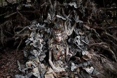 """The Last Door of Autumn"" from the ""Wonderland"" Series | Model: Daria Shipovskikh, Photographer: Kirsty Mitchell, 2012"