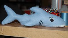 stuffed shark tutorial. Maybe for Tommy's sharktopus?