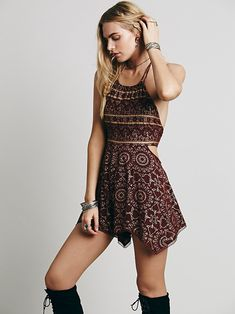 Foiled Open Side Romper at Free People Clothing Boutique
