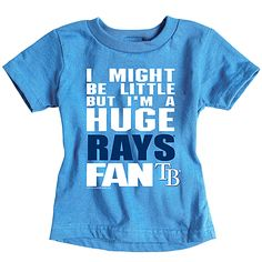 Tampa Bay Rays Infant Biggest Little Fan T-Shirt by Soft as a Grape.