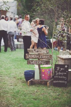 Signs - Rustic DIY would be perfect for a fall party and unexpected!