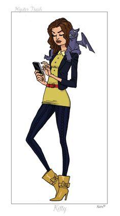 <3 hipster Kitty Pryde!    #shadowcat #Hipster X-Men #Nate Bellegarde