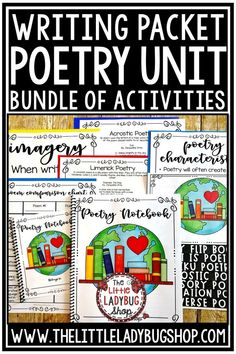 Have you been searching for ways to engage and grow your writers into poets and understanding Poetry? This Poetry Unit Notebook is perfect to help you grow your students in the poetry genre. This packet is full with terminology posters, poetry to use and teach, poetry analyzing, and writing to reinforce your students growth. Perfect for 3rd grade, 4th grade, 5th grade and home school students. #poetrywriting #poetryunit