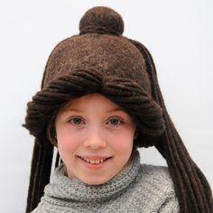 Wet Felted Hippy Boho Dreaklock Hat