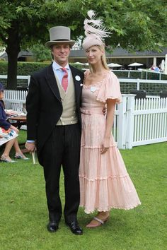 Lady Gabriella Windsor and Thomas Kingston on Ladies Day of Royal Ascot 2019 Ascot Outfits, Ascot Dresses, Derby Outfits, Dress Hats, Fashion Outfits, Men's Fashion, Royal Ascot Ladies Day, Royal Ascot Hats, Prince Michael Of Kent