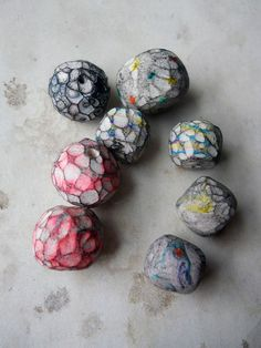 Handmade Polymer Clay Beads Set of 8 Beads by shipwreckdandy, $11.00