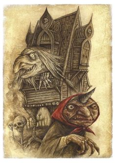 Anonymous said: Can you explain Baba Yaga vs Baba Roga? And explain the stories of Baba Roga further in detail? I'm so curious to know more about slavic mythology! Baba Yaga, Illustrator, Kobold, Supernatural Beings, Freundlich, Gods And Goddesses, Mythical Creatures, Occult, Mythology
