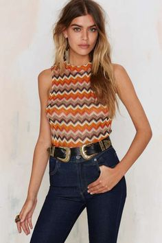 Glamorous Chevron and On Knit Top
