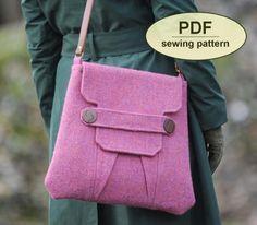 Polstead Heath Messenger Bag - PDF Sewing Pattern