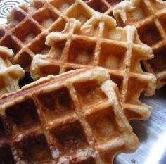 I FOUND IT!  Waffle recipe from my wedding.  I'm addicted! (Don't forget the Speculoos topping, it's to DIE for!)
