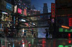 Cyberpunk city by Danielius | Sci-Fi | 2D | CGSociety