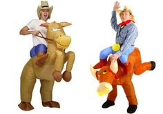 Inflatable rodeo costume...