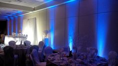 Blue air wall at the Americana in Niagara Falls Blue Air, Wedding Receptions, Niagara Falls, Dj, Weddings, Concert, Wall, Wedding, Concerts