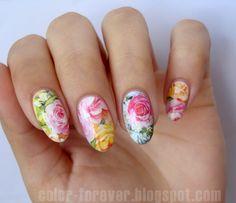 BornPrettyStore Floral Water Decals