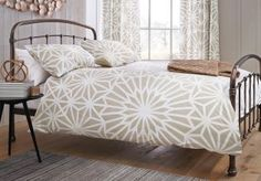 Natural Geo Print Bed Set at Next