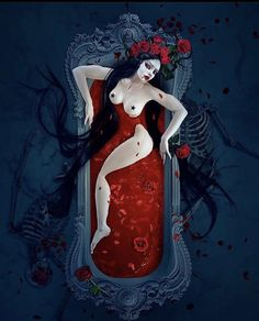 Elizabeth Bathory, Day Of The Dead Art, Fantasy Artwork, Dark Beauty, Dark Art, Inktober, Creepy, Disney Characters, Fictional Characters