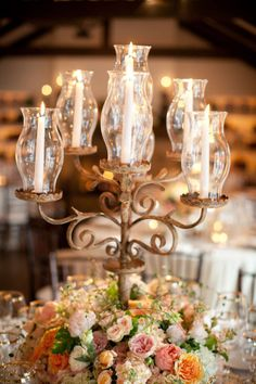 Rustic Candelabra, would also be a great dining room centerpiece