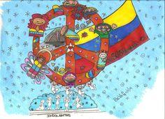 """Los Indolentes""    © & ℗ produced byBeVag™ #byBeVaG #artenaive #naiveart   #bybevag #arteingenuo #naiveart #hechoenvenezuela #tintachina #wache #madeinvenezuela"