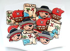 Pirate Cookie Platter by Sugarbelle  sweetsugarbelle.com
