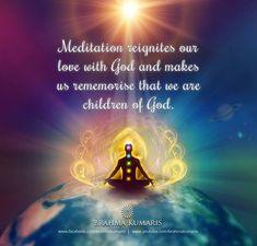 Rajyoga Meditation is the way for receiving those pure vibrations from God Rajyoga Meditation, Meditation Benefits, Daily Thoughts, Positive Thoughts, Brahma Kumaris Meditation, Bk Shivani Quotes, Indian Philosophy, Om Shanti Om, Happy Friendship