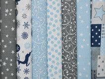 Weihnachten Blau Grau 7 x (30 x 50)