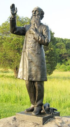 Father William Corby - Chaplain of the Irish Brigade during the US Civil War. His monument at Gettysburg.