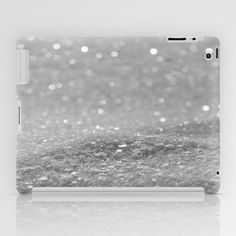 Glitter Silver iPad Case by Alice Gosling - $60.00  Available as iPad Mini, iPad 2nd, 3rd, 4th Gen. #ipad #glitter #sparkle #sparkling #glittery #silver