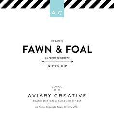 Boutique Pre-made Logo Design Fawn  Foal Graphic Design / Custom Brand Design via Etsy