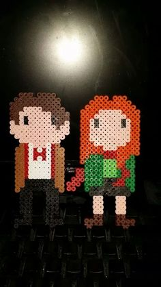 11th Doctor Who and Amelia Pond - Doctor Who perler beads by daisyice