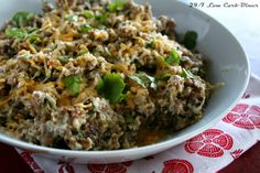 24/7 Low Carb Diner: Salchicha Skillet. This incredible sausage dish is made extra special with green chilies, cilantro and hot sauce. A couple kinds of cheese is great too. Use it to fill burritos, stuffed into mini bell peppers, wrapped in egg crepes, alongside sauteed veggies or to top scrambled eggs. The south of the border taste is awesome.