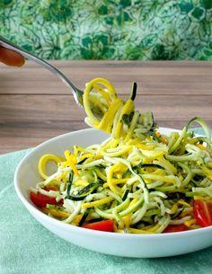 Zucchini 'Pasta' in Pesto Sauce