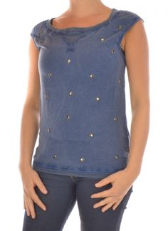 T-SHIRT SHORTSLEEVE DAMES UNION SS TOP blauw Only