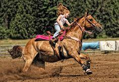 Barrel Racing Rodeo, Oregon, Horse, Rider, Rodeo