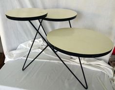 Mid Century rare hairpin leg tiered plant table stand