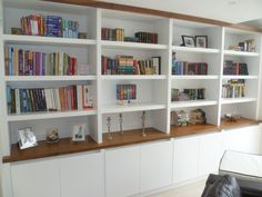 Portfolio - The Alcove Man Living Room Wall Units, Living Room Divider, Living Room Shelves, Home Living Room, Living Room Decor, Office Bookshelves, Built In Bookcase, Bookcase Wall, Bookcases