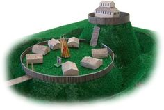 Motte And Bailey Castle Papercraft Project For School Works - by Armada Models