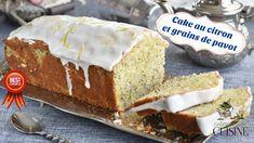 cake au citron et graines de pavot et son glaçage au citron, recette pou...