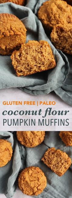 Finally, a recipe for coconut flour pumpkin muffins that are light and moist, not dense and heavy! Zucchini Muffins, Muffins Blueberry, Paleo Pumpkin Muffins, Dairy Free Recipes, Low Carb Recipes, Cooking Recipes, Healthy Recipes, Weight Watcher Desserts, Sans Gluten Sans Lactose