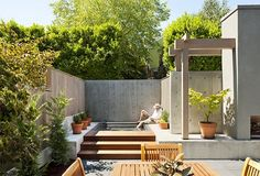 Small courtyard with spa