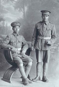 Portrait of two Privates of the New Zealand Maori Pioneer Battalion.WW1